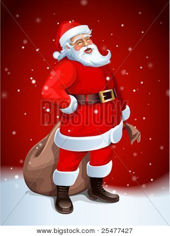Santa Claus-Vektor-Bild