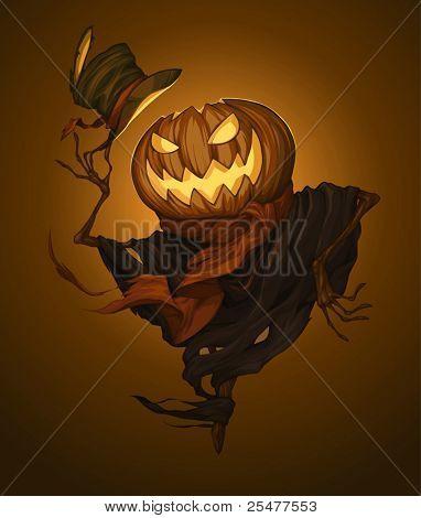 Pumpkin scarecrow