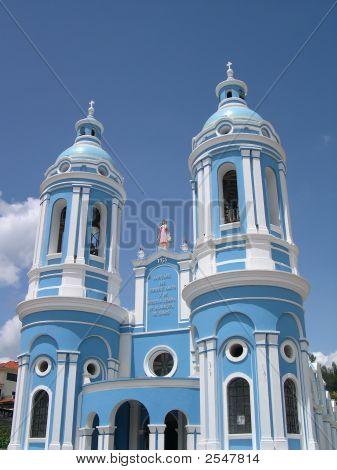 Blue Church In Cuenca