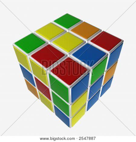 Cube-Puzzle Non-Assembled