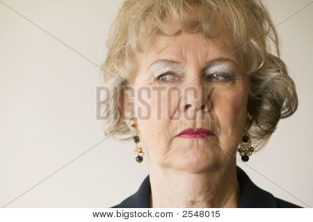 Senior Woman Looking Left