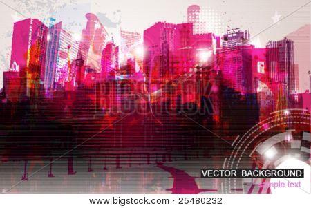 Ilustração em vetor de Cityscape