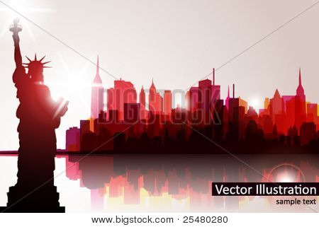 New york Skyline. Vector