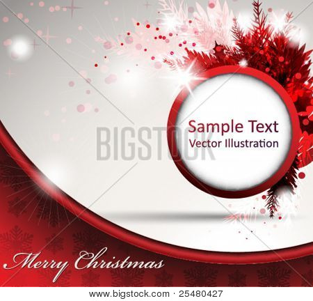 Christmas Abstract Design in Red.