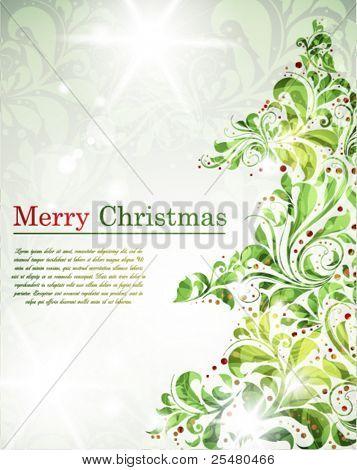 Postmodern Christmas Background.