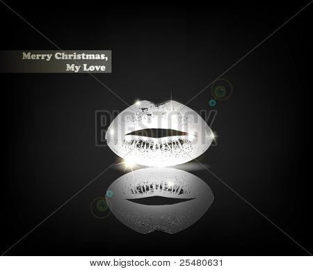 """Merry Christmas, My Love"". From Serial of minimalistic contemporary Greeting Christmas Cards."