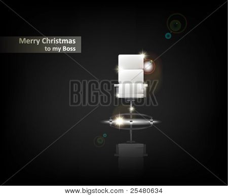 """Merry Christmas to my Boss"". From Serial of minimalistic contemporary Greeting Christmas Cards."
