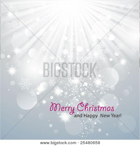 Christmas Background with luminous rays.