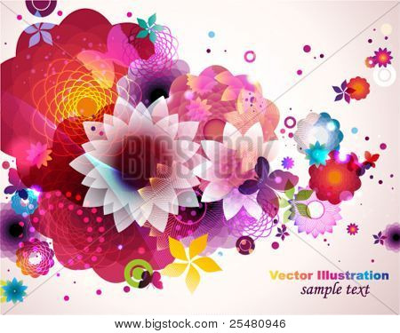 Abstract floral spring background.