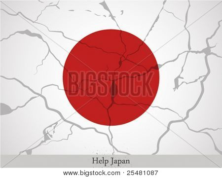 Japan Flag with the text
