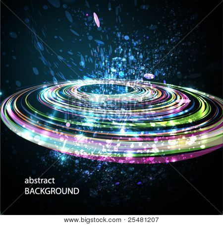 Abstract Perspective Circle background. Eps 10.