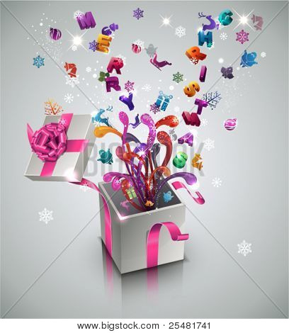 Christmas Surprise. Vector Illustration.