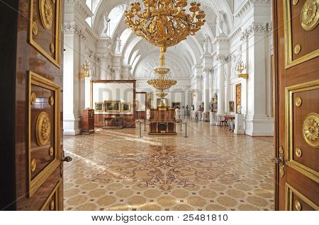 Winter palace. interior. gallery of arts