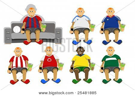 Football fans of different countries