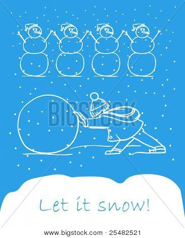 snowboy and snowmen. Let it snow