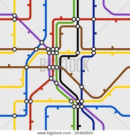 Seamless background of metro dcheme