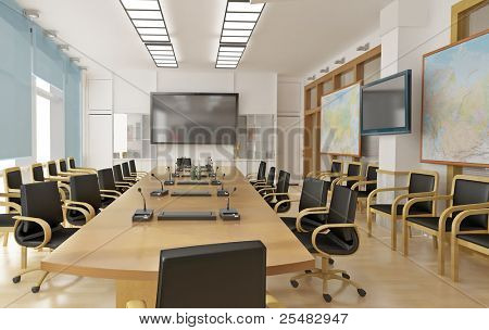 Interrior of conference room