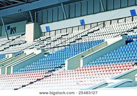 Empty winter tribunes