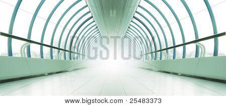 Symmetric bright metro hall