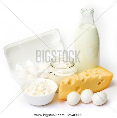 Productos lácteos y huevos frescos