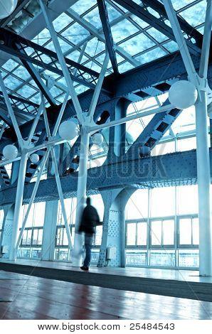 Long corridor in airport