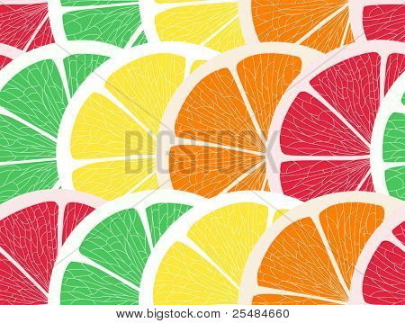 Citrus assorted seamless background