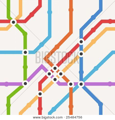 Color metro scheme seamless background