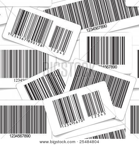 Barcodes monochrome collection seamless background