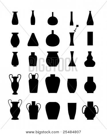 Different slyle of vases set