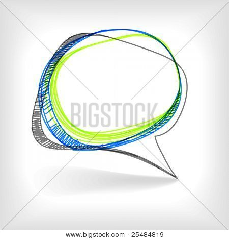 Background of abstract talking bubble