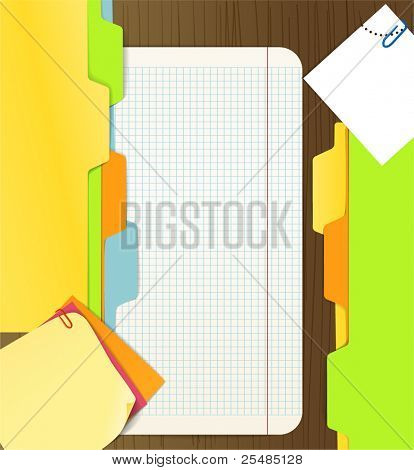 Background of paper sheets