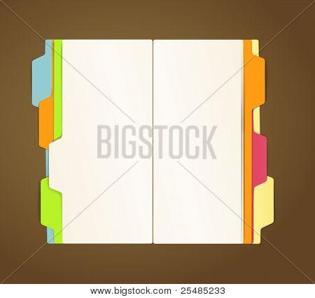 Kopie-Buch Vektor Vorlage