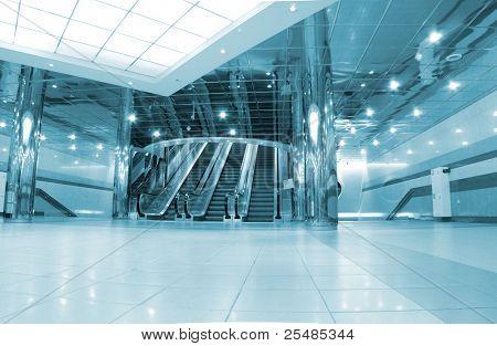 Entrance with escalators