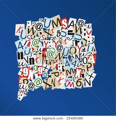 Vector letters background