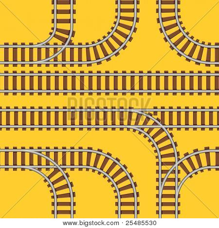 Seamless railroad background