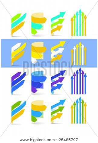 Color arrows set. Cool gamma