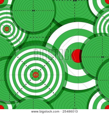 Seamless background of green targets
