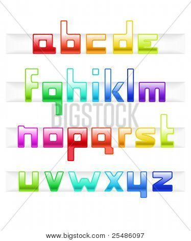 Colorful cubic style font
