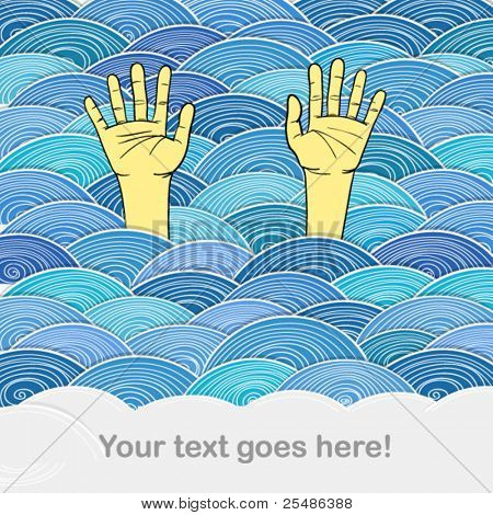 �?��?�¡urled abstract waves and human hands