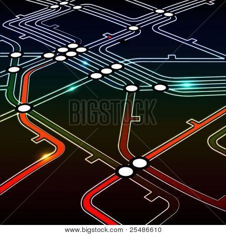 Perspective background of metro scheme