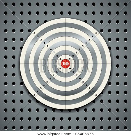 Target on steel background