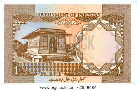 1 Rupee Bill Of Pakistan