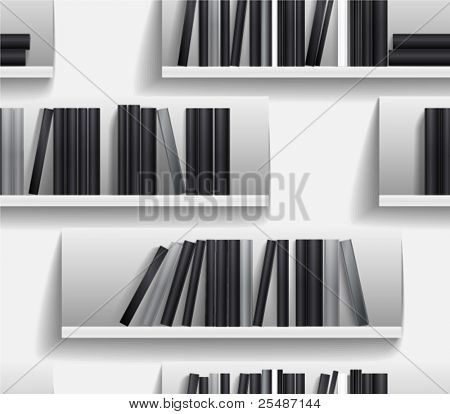 Seamless background of library shelves