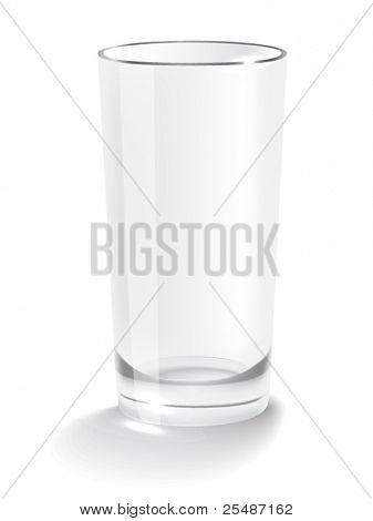 Empty glass. Non transparent gradient mesh