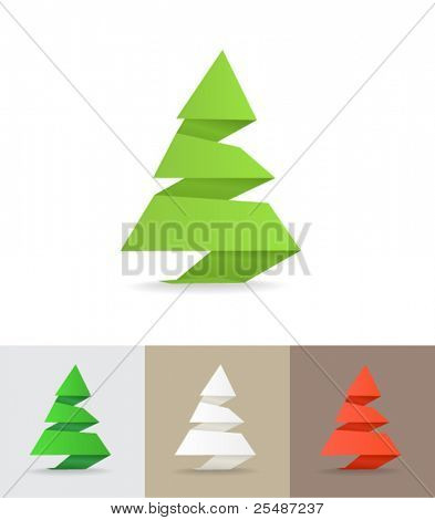 Christmas tree origami set