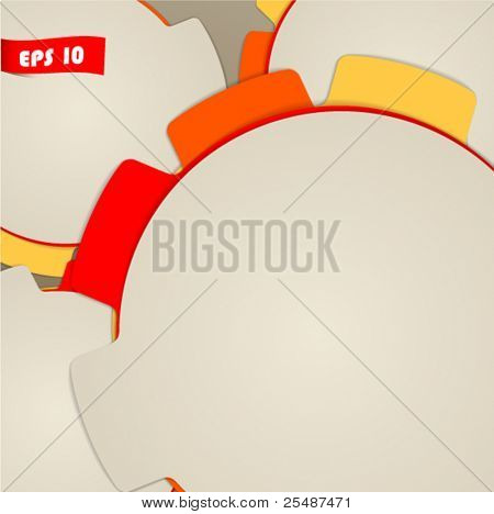 Circle blank paper bookmarks background