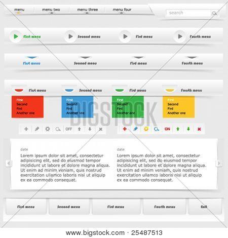 Colorful site elements set