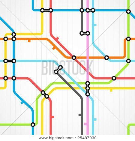 Seamless background of metro scheme
