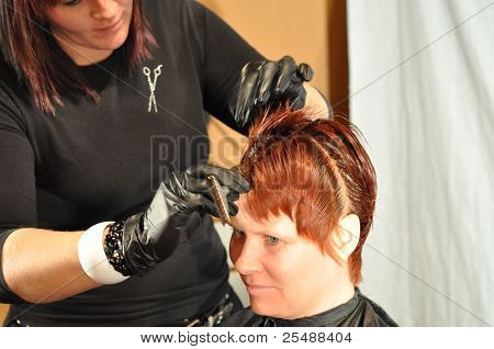 Salon Model Receiving Color