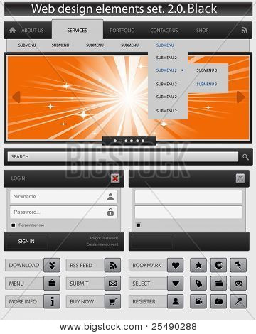 kreative Web-Design-Elemente festgelegt. Vektor-illustration